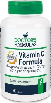 Doctor's Formulas Vitamin C Fast Action 1000mg 30 κάψουλες