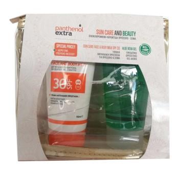 Panthenol Extra Promo Sun Care Face and Body Milk SPF30 150ml & ΔΩΡΟ Aloe Vera Gel 150ml