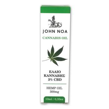John Noa Cannabis Oil 3% CBD 300mg 10ml