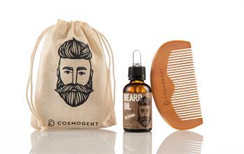 Cosmogent Mr. Cosmo – Beard Oil 30ml μαζί με την Cosmogent Beard & Hair Comb