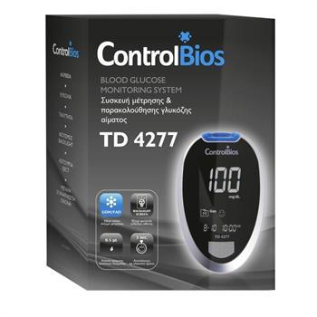 Μετρητής Σακχάρου ControlBios Blood Glucose Meter Kit  TD-4277 Μαζί με 200 Ταινίες και 200 Σκαρφιστήρες