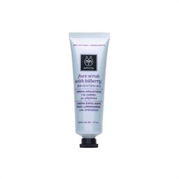 Apivita Face Scrub - Κρέμα Απολέπισης Προσώπου Για Λάμψη Με Μύρτιλλο 50ml