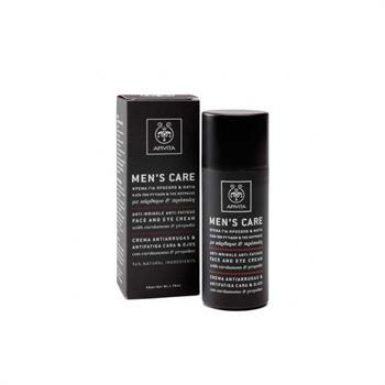 Apivita Men's Care Κρέμα Κατά Των Ρυτίδων & Κούρασης Για Το Πρόσωπο & Τα Μάτια Με Κάρδαμο & Πρόπολη 50ml