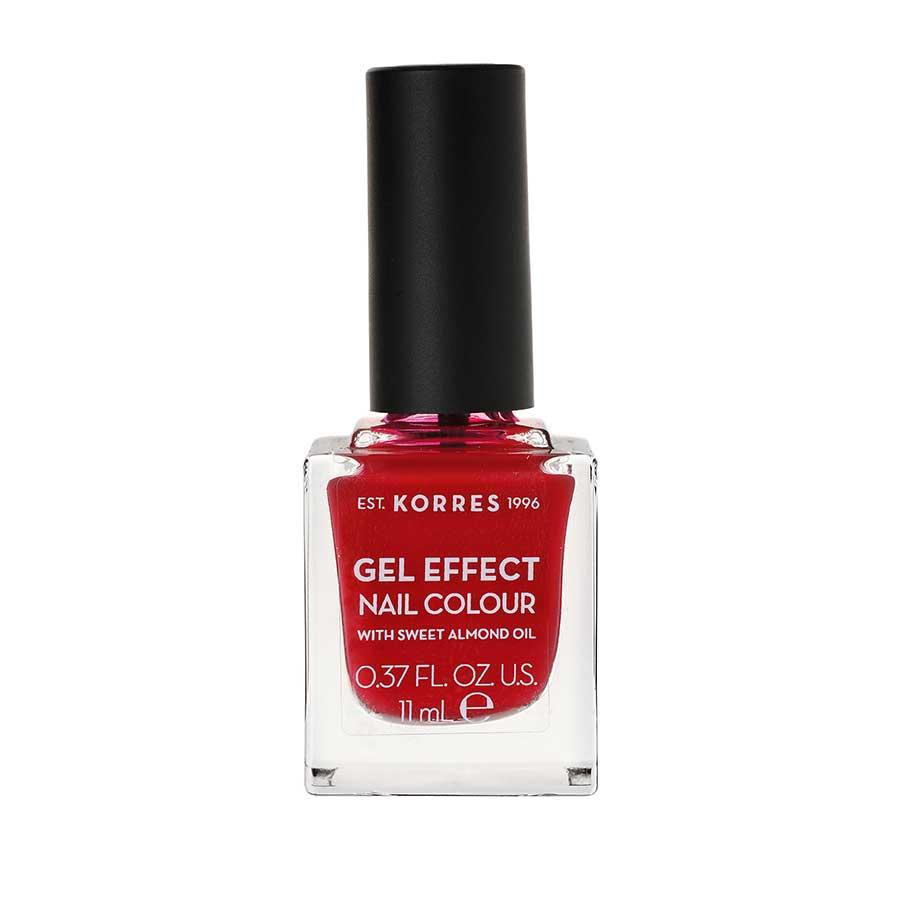 ΚΟΡΡΕΣ Βερνίκι Νυχιών Gel Effect Nail Color 51 Rosy Red 11ml