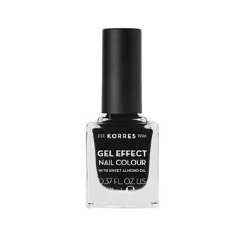 ΚΟΡΡΕΣ Βερνίκι Νυχιών Gel Effect Nail Color 100 Black Με Αμυγδαλέλαιο 11ml