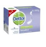 Dettol Sensitive Antibacterial Soap 4 x 100gr