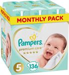 Pampers Premium Care No 5 (11-16kg) 136τμχ