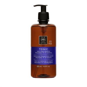Apivita Tonic Men`s Shampoo with Hippophae TC & Rosemary 500ml Eco Pack