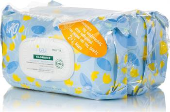 Klorane Bebe Gentle Cleansing Wipes 3x70τμχ (2+1 Δώρο)