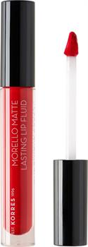 Korres Morello Matte Lasting Lip Fluid 52 Poppy Red 3,4 ml