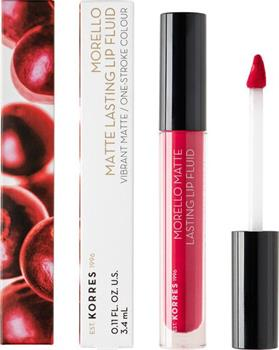 Korres Morello Matte Lasting Lip Fluid 27 Cranberry Sorbet 3,4 ml