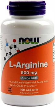 Now Foods L-Arginine 500mg 100 κάψουλες