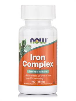 Now Foods Iron Complex 100 ταμπλέτες