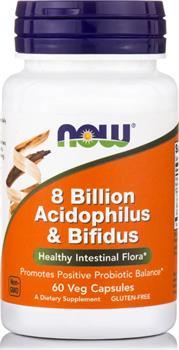 Now Foods Acidophilus/Bifidus 8 Billion 60 κάψουλες