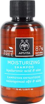 Apivita Moisturizing Shampoo with Hyaluronic Acid & Aloe 75ml Travel Size