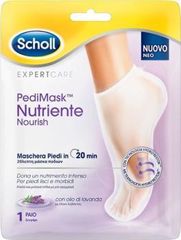 Scholl PediMask Nourish Lavender Μάσκα Ποδιών 1 ζεύγος