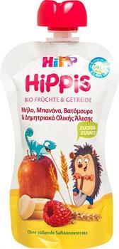 Hipp Φρουτοπολτός Μήλο, Μπανάνα, Βατόμουρα από Βιολογικά Φρούτα 100gr