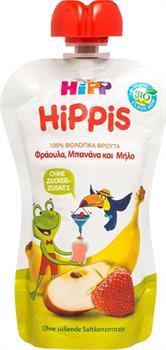 Hipp Hippis Φρουτοχυμός Φράουλα Μπανάνα Μήλο 100gr