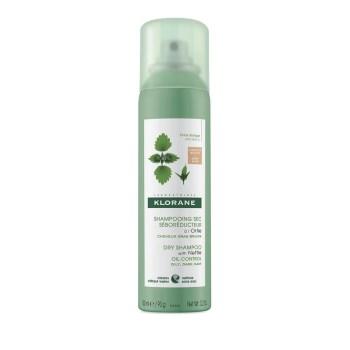 Klorane Ortie Dry Shampoo με Τσουκνίδα για Λιπαρά Μαλλιά Καστανά/Μαύρα 150ml