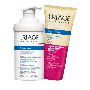 Uriage Promo Xemose Creme Relipidante Anti-Irritations 400ml & ΔΩΡΟ Huile Lavante Apaisante 200ml