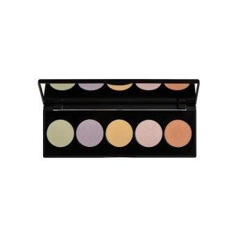 Korres Colour Correcting Palette Activated Charcoal Multi-Purpose Παλέτα Μακιγιάζ Προσώπου, 5.5gr