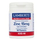 Lamberts Zinc Citrate 15mg Συμπλήρωμα Ψευδάργυρου, 90 tabs