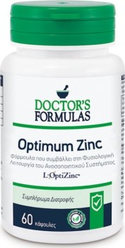 Doctor`s Formulas Optimum Zinc 60 κάψουλες