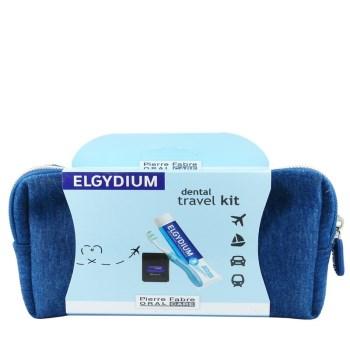Dental Travel Kit με Οδοντόκρεμα 38ml & Οδοντόβουρτσα pocket & Νήμα Clinic Black 5m & ΔΩΡΟ Μπλε Νεσεσέρ
