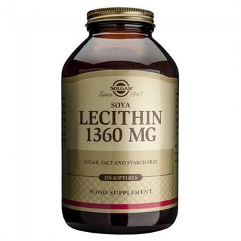 Solgar Lecithin 1360mg 250 Μαλακές Κάψουλες