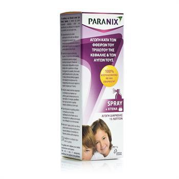 Paranix Spray - Αντιφθειρική προστασία για ψείρες και κόνιδες - 100ml + Kτένα