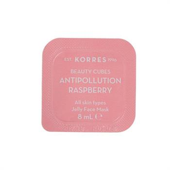 Korres Beauty Cubes Antipollution Raspberry Jelly Face Mask 8ml