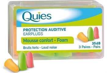 Quies Mousse Confort Foam Earplugs Ωτοασπίδες 3 ζεύγη