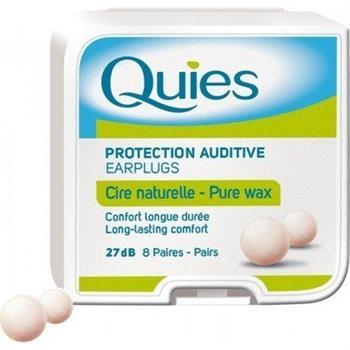 Quies Pure Wax Earplugs Ωτοασπίδες από Φυσικό Κερί 8 ζεύγη