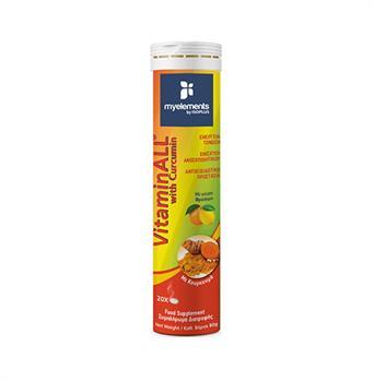 My Elements VitaminAll with Curcumin Συμπλήρωμα Διατροφής για Ενίσχυση του Ανοσοποιητικού 20 αναβράζοντα δισκία