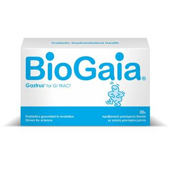 BioGaia Gastrus Προβιοτικά με γεύση Μανταρίνι & Μέντα 30 μασώμενα δισκία