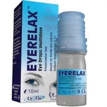 Eye Relax Οφθαλμικές Σταγόνες με Υαλουρονικό Νάτριο 10ml