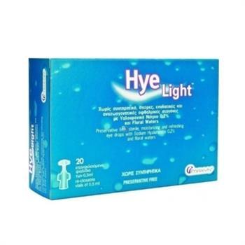 Maxyn Hye Light, Ενυδατικές Οφθαλμικές Σταγόνες με Υαλουρονικό Νάτριο 0.2% 20 x 0.5ml