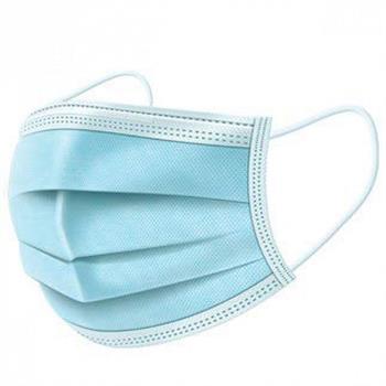 Face Mask Μάσκα μιας χρήσης 4ply με Λάστιχο - Μπλε Χρώμα 1 τμχ