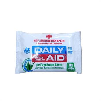 Meke Daily Aid Aloe Antiseptic Wet Wipes 25 τμχ.