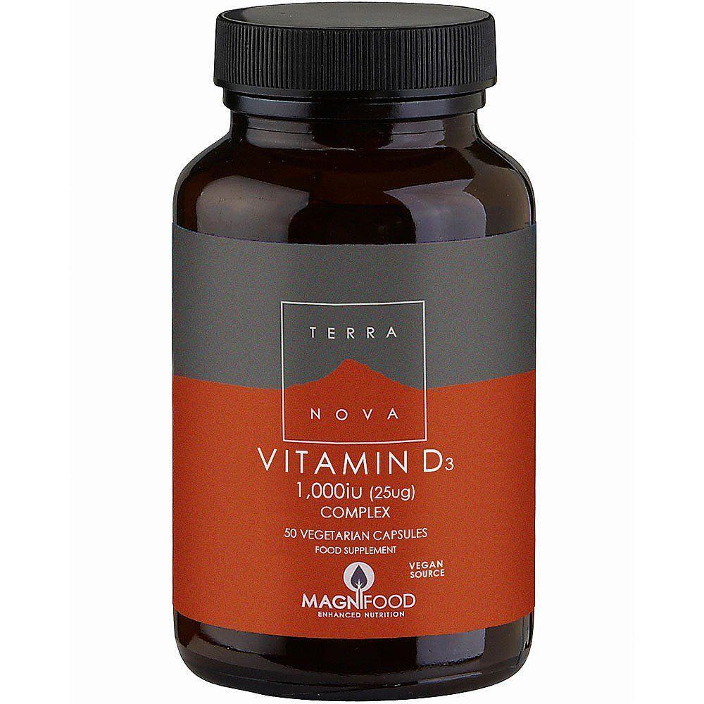 TerraNova Vitamin D3 1000iu Complex 50 caps