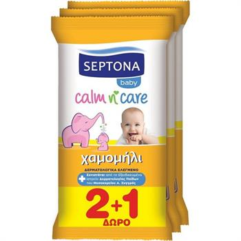 Septona Calm N  Care Chamomile 2x12τμχ + Δώρο 1x12μχ