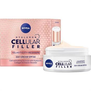 Nivea Hyaluron Cellular Filler+ Elasticity Reshape Day Cream κρέμα Ημέρας Για Επαναφορά Ελαστικότητας SPF30 50ml