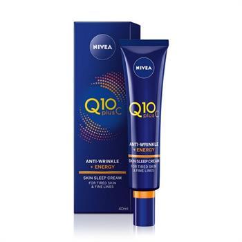 Nivea Q10 Plus C Αντιρυτιδική Κρέμα Ύπνου για Αναπλήρωση Ενέργειας 40ml