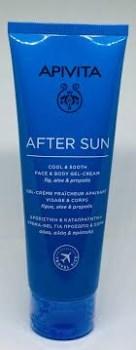 Apivita After Sun Cool & Sooth Face & Body Gel Cream 100ml