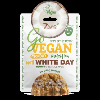 7DAYS GoVegan sheet mask WHITE DAY 25g
