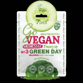 7DAYS GoVegan sheet mask GREEN DAY 25g
