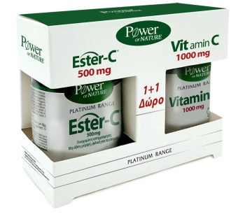 Power Health Platinum Promo Platinum ESTER-C 500mg 50s Tabs + ΔΩΡΟ Vitamin C 1000mg 20s Tabs