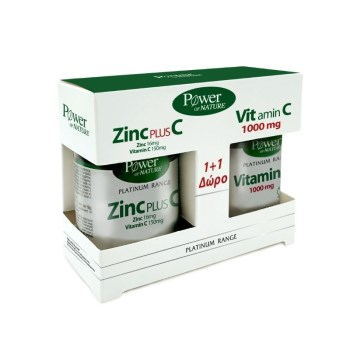 Power Health Platinum PROMO Zinc Plus C 30 Δισκία & Δώρο Vitamin C 100mg 20 Δισκία