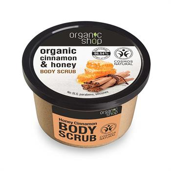 Natura Siberica Organic Shop Organic Cinnamon & Honey Body Scrub 250 ml
