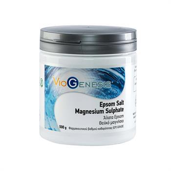 Viogenesis Epsom Salt Magnesium Sulphate Άλατα Epsom και Θειϊκό Μαγνήσιο 500 gr